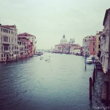 View from the watertaxi, on our way to Basilica Santa Maria della Salute