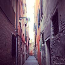 Narrow streets in Venice