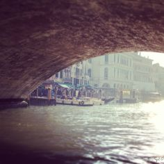 View from under the Rialto bridge