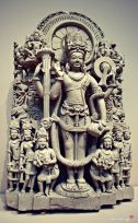 Statue of Vishnu, an Indian god. From 10th-11th century, found in Punjab -The Metropolitan Museum of Art