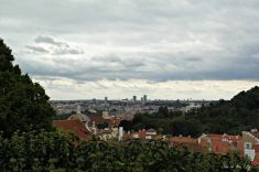 View from the Starbucks Cafe near the entrance of Prague Castle