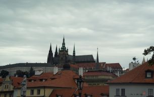 Prague Castle seen from the city, one of the largest castles in the world