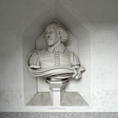 bust of William Shakespeare at Guildhall Art Gallery